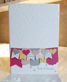 Grusskarte mit Naht - stampinBell - Stampin' Up! - Fähnchen - Geburtstag - sewing - card - greetings