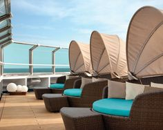 Carnival Valor's serenity deck with couples lounges. Cannot WAIT for that.