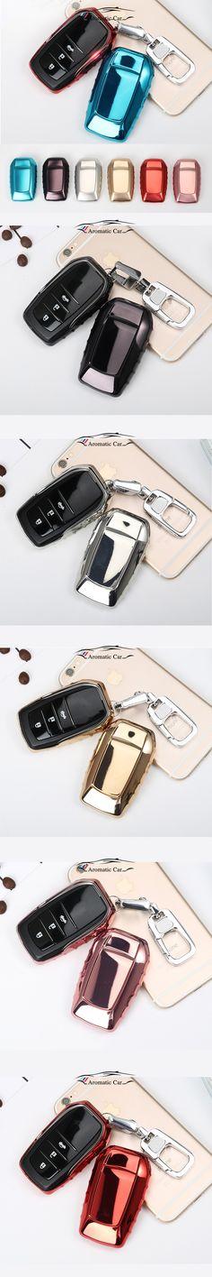 For Toyota Electric plating TPU Car Key Case Cover Camry Highlander Prado Crown Land Cruiser Prius Vitz Smart Key Protect shell