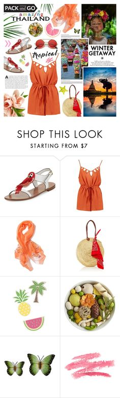 """""""Winter Getaway"""" by kumi-chan ❤ liked on Polyvore featuring Kate Spade, Boohoo, Red Camel, Pier 1 Imports, NOVICA and ZeroUV"""