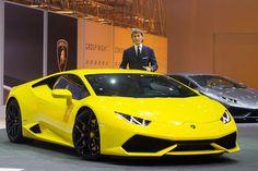Lamborghini Huracan LP Unveiled at 2014 Geneva Motor Show Lambo Huracan, Koenigsegg, Supercars, New Lambo, Ferrari California T, Volkswagen Group, Yellow Car, Exotic Sports Cars, Geneva Motor Show