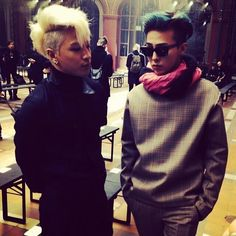 Taeyang & G-Dragon #ParisFashionWeek