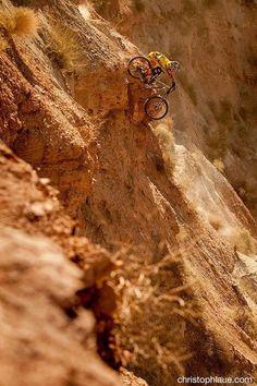 Taking the quick way down - Virgin, Utah