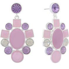 Monet Jewelry Purple Drop Earrings (680 UAH) ❤ liked on Polyvore featuring jewelry, earrings, purple earrings, purple jewellery, drop earrings, monet jewelry and monet jewellery