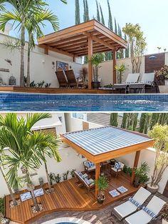 Backyard Seating, Backyard Patio Designs, Outdoor Pergola, Backyard Pergola, Pergola Ideas, Modern Gazebo, Modern Backyard, Home Design Decor, Garden Sitting Areas