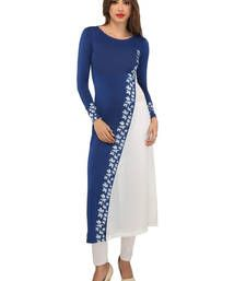 Buy Ira Soleil  diagonal design long kurti  kurtas-and-kurti online
