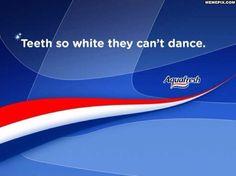 Damn, those are some white teeth!