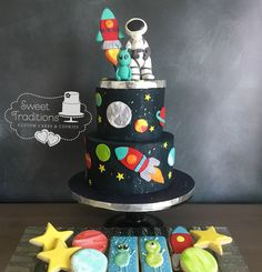 I seriously get to do such fun stuff! This 'Over the Moon' space themed baby shower set was a blast🚀 Cake Cookies, Sugar Cookies, Cakes For Boys, Boy Cakes, Boy Birthday, Birthday Cake, Custom Cookies, Sugar Art, Buttercream Cake