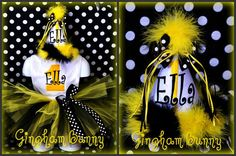 3 Piece Set Bumblebee Set Onesie and TUTU Boutique by ginghambunny, $74.00