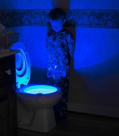 Motion activated toilet light. www.AllDadStuff.com
