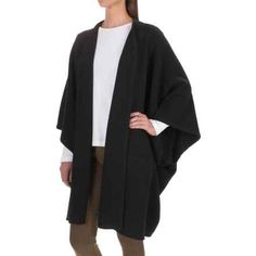 Pendleton Lambswool Poncho (For Women) in Black - Overstock