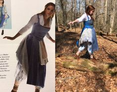 Here is the dress inspired by Belle from the new Beauty and the Beast coming out this year. It is made to order and includes: skirt with attached slip, corset top, white top with white scarf, apron, and the red and blue bags. The bodice is lined and the shirt is unlined. The cherry fabric is on the underside bottom part of the slip in case you would like to pin it up. I will have underpants listed separately. The apron fabric will vary due to fabric availability, but I will approve the…