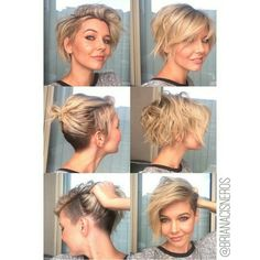 Texture. Undercut. Bob. Pixie. More amazing and fantastic hairstyles for every occasion at https://unique-hairstyle.com/undercut-hairstyle/ More amazing and unique hairstyles at:http://unique-hairstyle.com/short-hair-for-women/