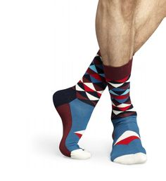 Happy Socks Happy Socks, Cool Socks, Let Them Talk, Sock Shoes, Cool Stuff, Stuff To Buy, Sewing Patterns, Triangle, Menswear