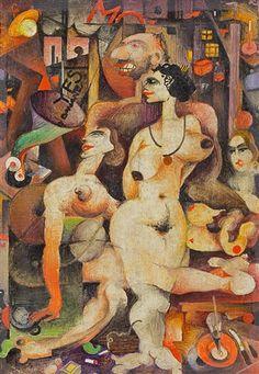 Otto Tschumi Andacht, 1924 Tigger, Disney Characters, Fictional Characters, Painting, Auction, Painting Art, Paintings, Painted Canvas, Disney Face Characters