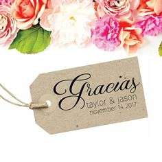 Wedding Gracias Stamp - Spanish Thank You by SouthernPaperAndInk on Etsy