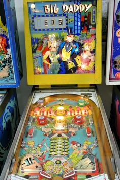 Big Daddy pinball machine made by Williams in 1963 Pinball Wizard, Pinball Games, Arcade Games, Video Game Machines, Penny Arcade, Retro Images, Big Daddy, Family Games, Childhood Memories