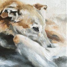 "Missy oil on canvas 6""x6"" by Julie Brunn"