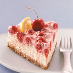 Makeover Cherry-Topped Cheesecake Recipe from Kathi Mulchin, Salt Lake City, Utah - from Taste of Home