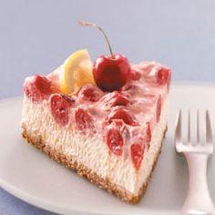 Makeover Cherry-Topped Cheesecake Recipe from Kathi Mulchin, Salt Lake City, Utah - from Taste of Home
