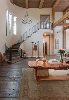 Foyer w/ Staircase – Home Renovation Dream Home Design, My Dream Home, Home Interior Design, Interior Architecture, Style At Home, Spanish Style Homes, House Goals, Future House, Sweet Home