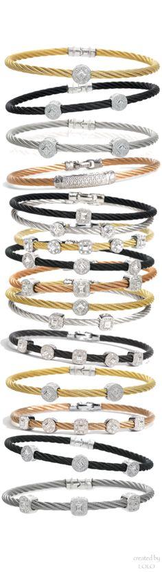 Charriol®'Nautical Cable' Diamond Bangles  | LOLO