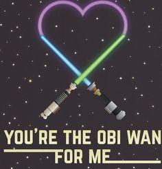 Aww, Star Wars love.
