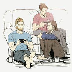 Hairstyle || Steve,Tony & Bucky || Avengers || Cr: Cass