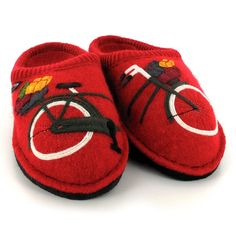 Take a ride with the Flair Radl by HAFLINGER®. Sporting detailed bike motif that is stitched onto the top, these shoes impress with their intricate design. Brown Slip On Shoes, Leather Clogs, Black Women, Baby Shoes, Bicycle, Slippers, Take That, Christmas Gifts, Ebay