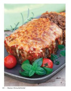 "Double Click Slowly on Pic for Recipe...Marinara + Mozzarella Meatloaf   .... by George Stella ...visit us at ""Low Carbing Among Friends"" on Facebook"