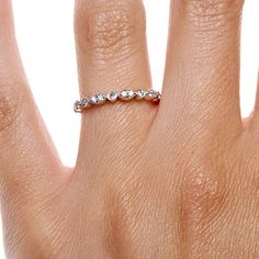 Tiara Eternity Diamond Ring in 18K White Gold