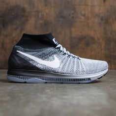 Nike Men Zoom All Out Flyknit Running (wolf grey / white-black-pure platinum)