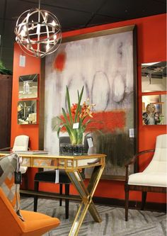 Decorating with orange...