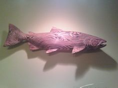 WTB Wood Carved Salmon - www.ifish.net