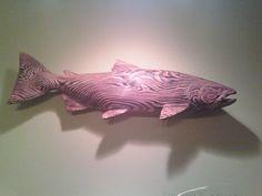 WTB Wood Carved Salmon - www.ifish.net
