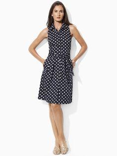 Ralph Lauren Polka-Dot Cotton Shirtdress, 12465402, $59.99