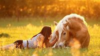 best friends horse & girl nature pretty