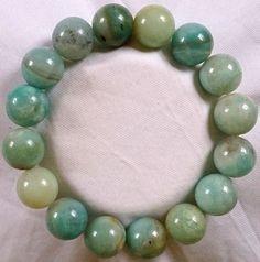 Natur Amazonit Heilstein Perlen Armband 12 mm