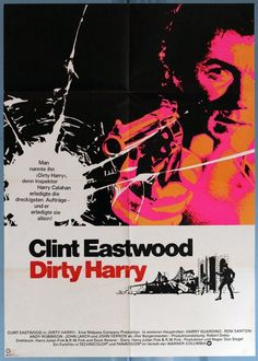 Dirty Harry - Clint Eastwood (german Poster)