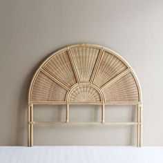 Double Headboard, Queen Headboard, Headboards For Beds, Headboard Ideas, Rattan Headboard, Rattan Pendant Light, Rattan Basket, Bed Head, Bedroom Decor