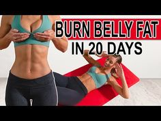 BURN BELLY FAT in 20 DAYS with this 10 minute ab workout! This intense lower abs workout can be done at home with no equipment. Lower Belly Workout, Lower Belly Fat, Burn Belly Fat, Lose Belly, 10 Minute Ab Workout, 10 Minute Abs, Hiit, Cardio Abs, Physical Fitness