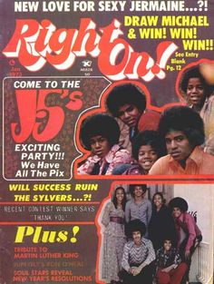 Right On Magazine Covers Jackson Five 1973 - I WANT THIS!