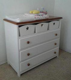 cómoda de bebé Paula, mudadores, cajoneras, todo muebles infantiles.