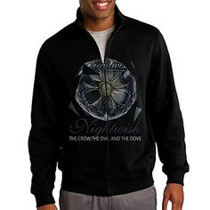NHJH Mens Nightwish The Crow The Owl And The Dove ZipFront Hooded Sweatshirt Jacket Black Size XL ** Click image to review more details.(This is an Amazon affiliate link and I receive a commission for the sales)