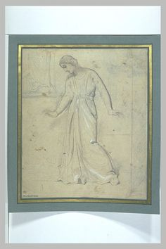 CHASSERIAU Théodore,1843 - Ste Marie l'Egyptienne, Assomption, Etude pour l'Eglise St-Merri(1) - drawing.