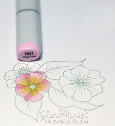 Copic Feather Blending Tutorial by Sharon Harnist