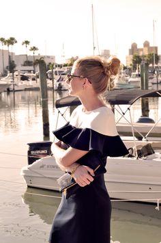 The Camilyn Beth 'Lena' Dress in Navy   SS16   Resort Style