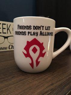 Horde Coffee Mug | WoW Coffee Mug | World of Warcraft | Epic Mug | Gamer Gift | WoW Gift | Horde | Alliance by LeStrangeExchange on Etsy https://www.etsy.com/listing/510075327/horde-coffee-mug-wow-coffee-mug-world-of