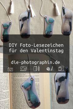 DIY Foto-Lesezeichen als schnelles Valetinstaggeschenk - diephotographin Diy Foto, Lettering, Origami, Blogging, Photos, Diy Bookmarks, Reading, Do Crafts, Back To School