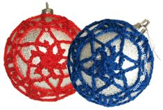Bolitas navideñas tejidas en crochet